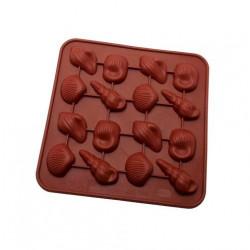 Ракушки №1, форма для шоколаду