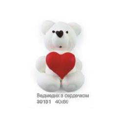 Білий ведмедик з червоним...