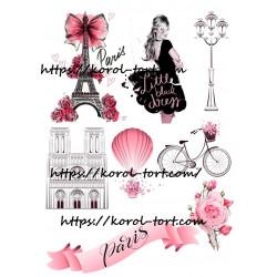 №96, Париж, вафельна картинка