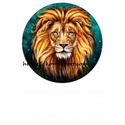 Лев №1, вафельна картинка