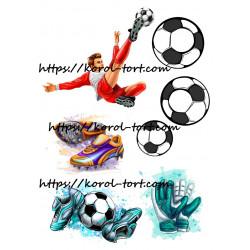 №08, Футбол, вафельна картинка