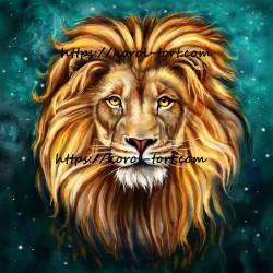 Лев №2, вафельна картинка