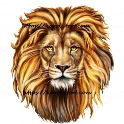Лев №23, вафельна картинка