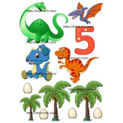 №454, Динозаврики. Вафельна...