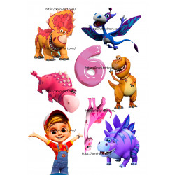 №456, Динозаврики, Вафельна...